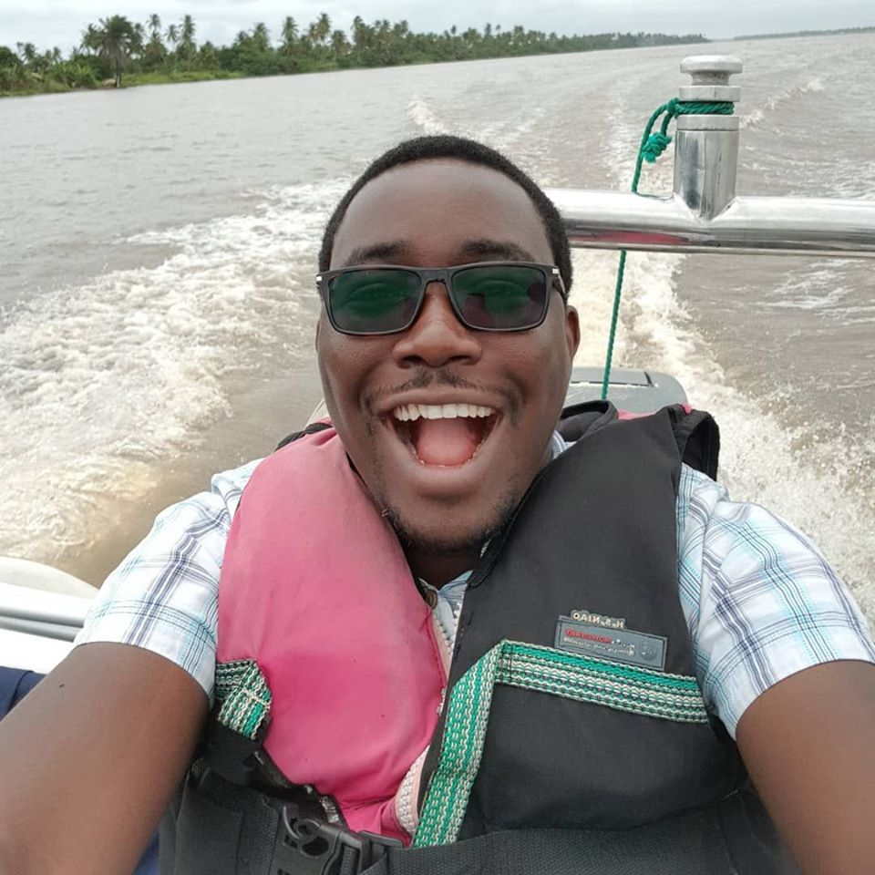 fineboy on a boatride at whispering palms